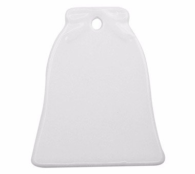 Bell Shape Sublimation Ceramic Pendent with Rope CP-B