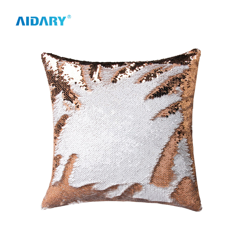 AIDARY New Sequined Magic Color Sublimation Sequins Pillow Case