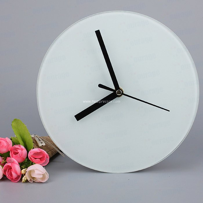 Sublimation Glass Smooth Circular Clock BL27