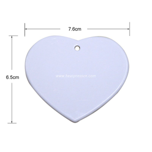 Heart Shape Sublimation Ceramic Pendent CP-H