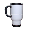 I Love You To The Moon And Back 14 Ounce White Stainless Steel Travel Coffee Mug with Push Down Lid