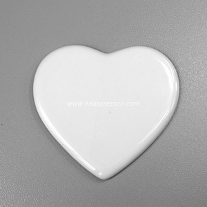 "4""heart Sublimation Procelain Ornament without Hole HPP4"
