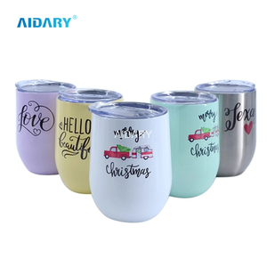 AIDARY 12oz Blanks Sublimation Coating Wine Egg Shaped Cup