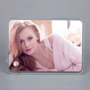 "6""Rounded Crystal Photo Frame BL07"