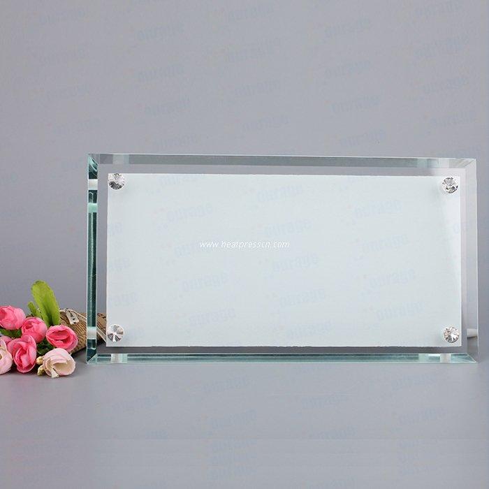 "Four Holes 12"" Strip Crystal Photo Frame BL12"