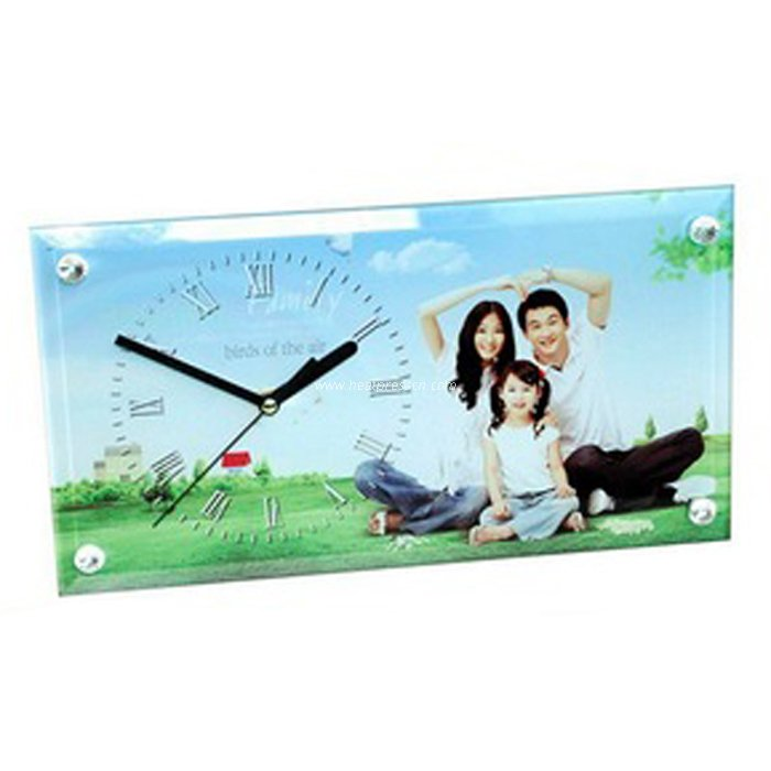 "12"" Strip Smooth Sublimation Glass Clock BL28"