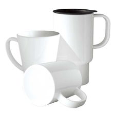 Sublimation White 14oz Plastic Car Mug