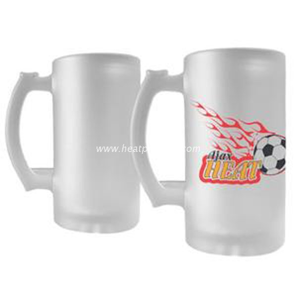 Sublimation 16oz Frosted Glass Beer Mug SGBM