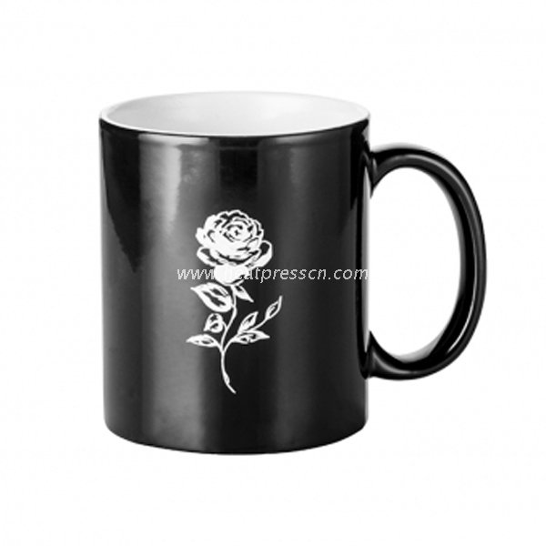 Rose Design Color Changing Mug