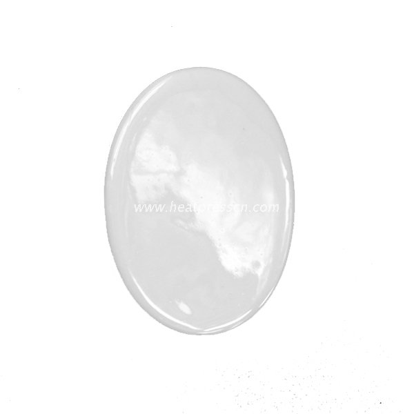 Different Size of Ellipse Porcelain Ornaments for Sublimation